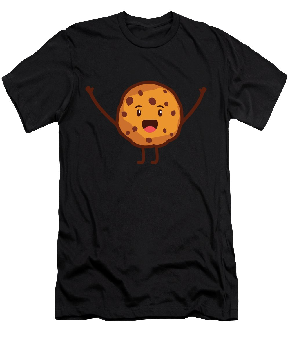 Cake Men's T-Shirt (Athletic Fit) featuring the digital art Cute Cookie For Cooke Lovers Men Women And Kids by Festivalshirt
