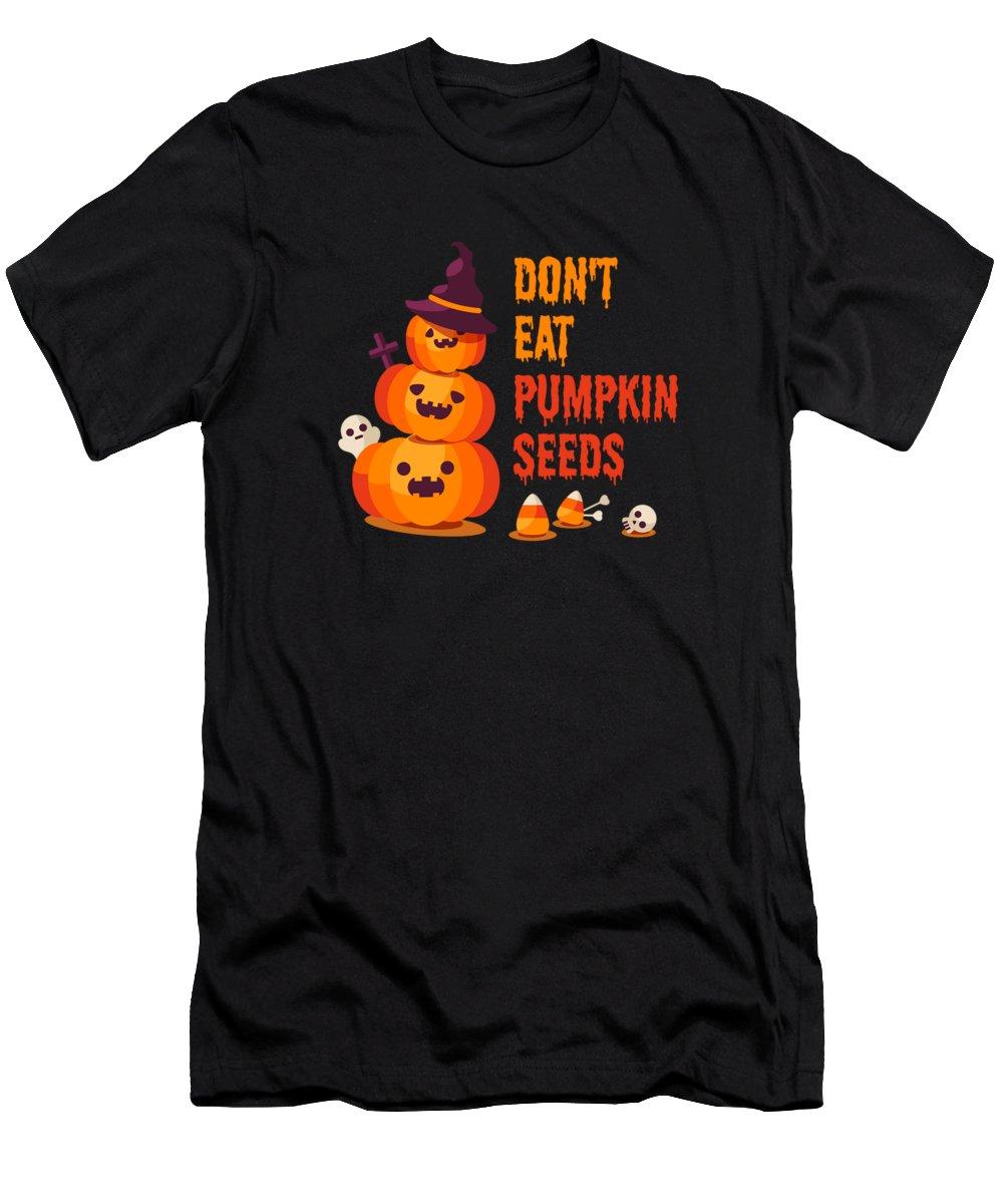 Creepy Clown T Shirt Men's T-Shirt (Athletic Fit) featuring the digital art Dont Eat Pumpkin Seeds by Kaylin Watchorn