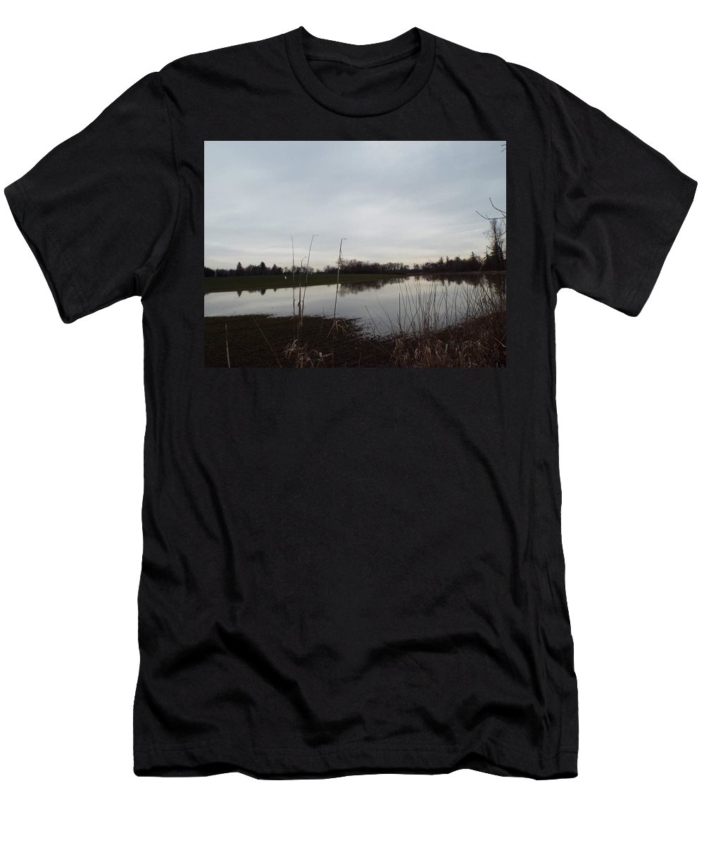Men's T-Shirt (Athletic Fit) featuring the photograph Farm Pond by James Harris