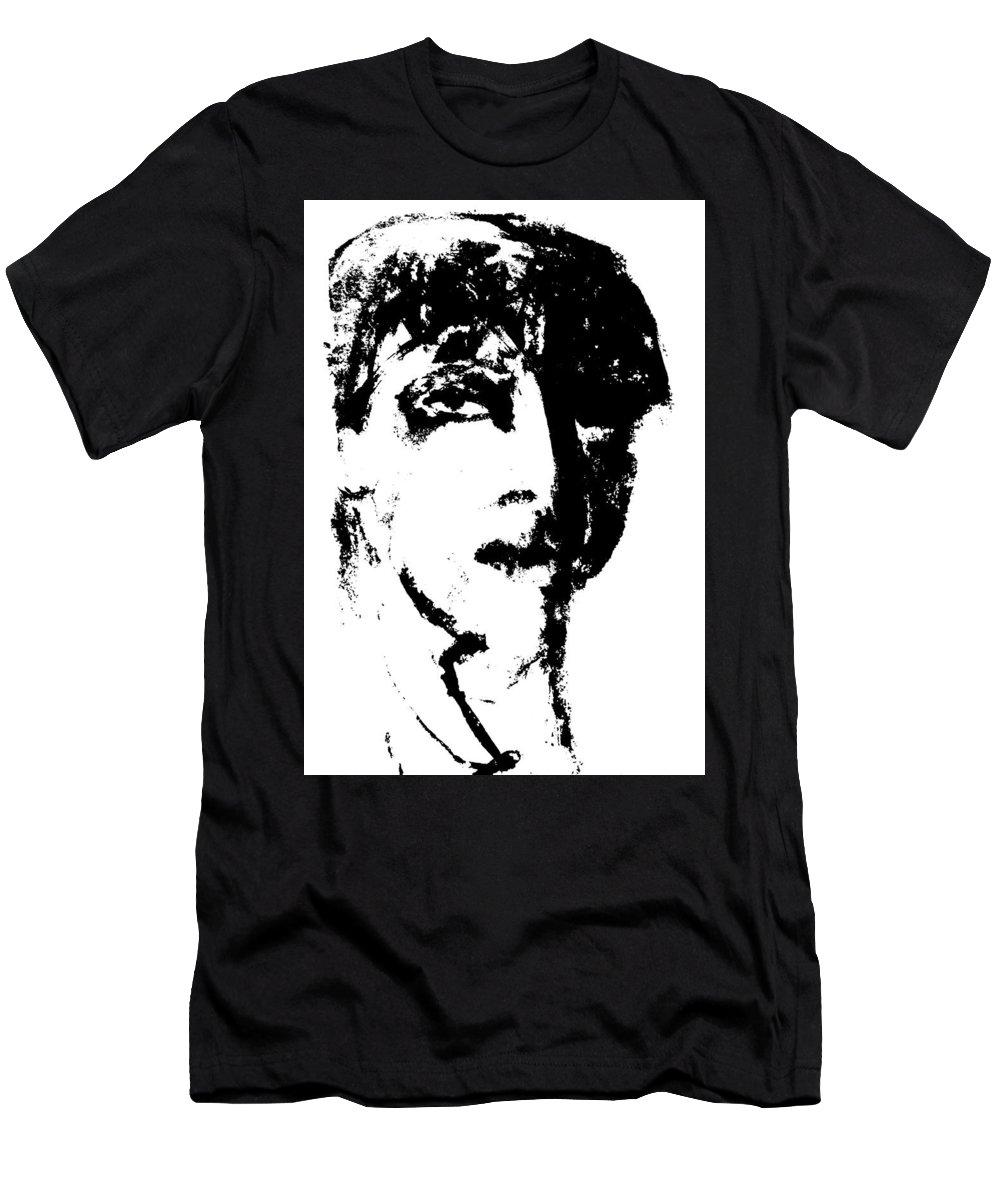 Fashion Men's T-Shirt (Athletic Fit) featuring the digital art Fashion Male Model Portrait by Artist Dot