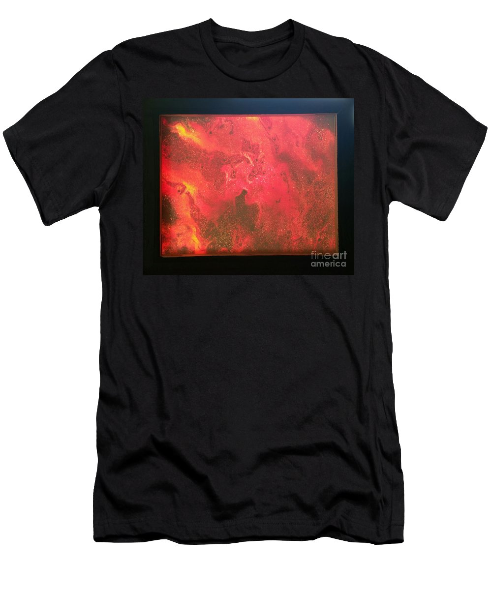 Acrylic T-Shirt featuring the photograph Framed Tongues Of Fire by Paola Baroni