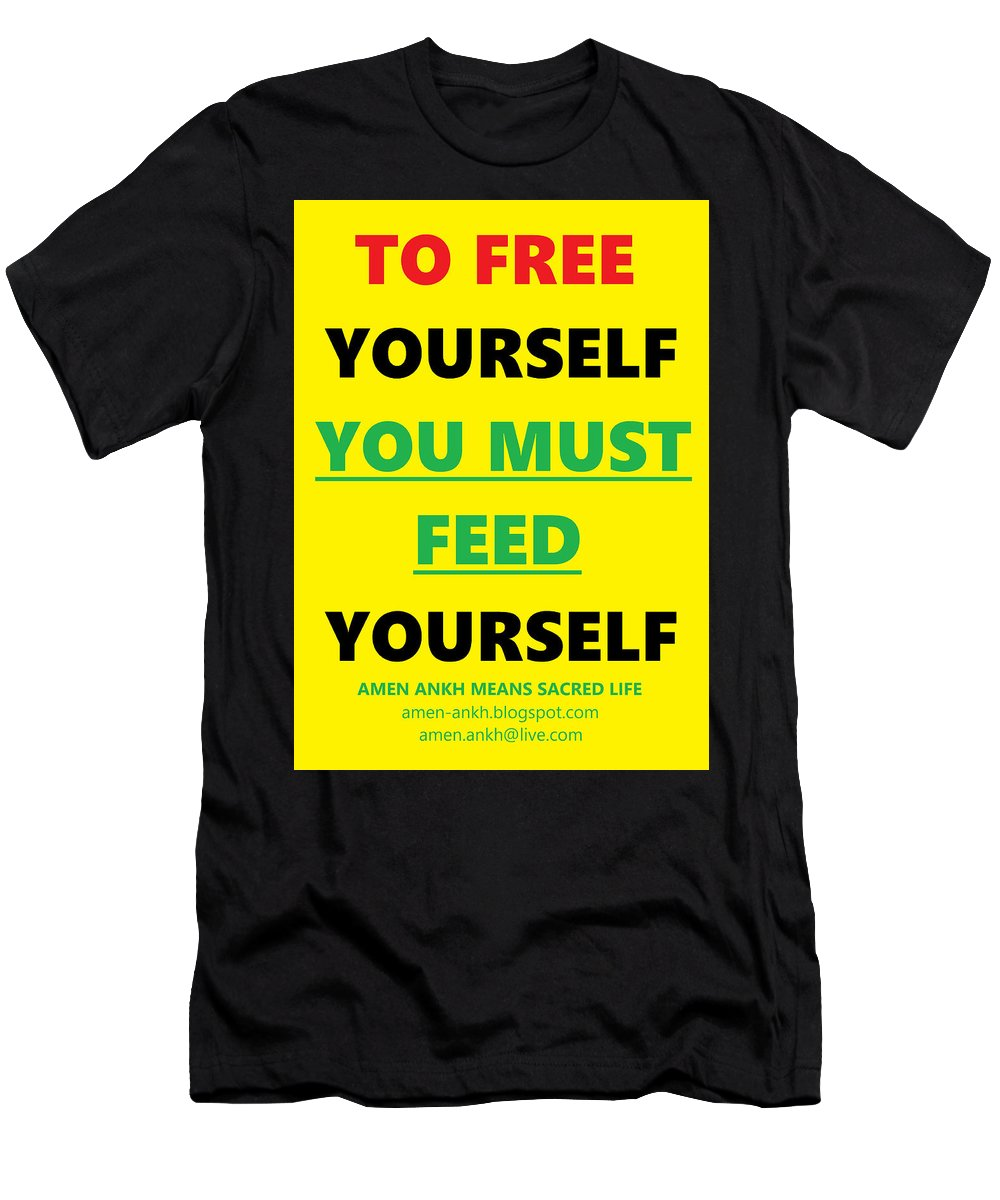 Free Yourself Men's T-Shirt (Athletic Fit) featuring the digital art Free Yourself by Adenike AmenRa