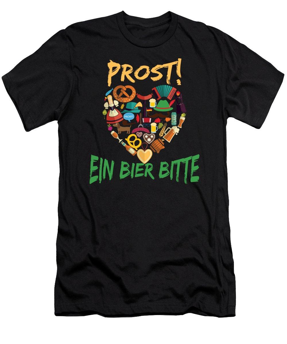 Germany Men's T-Shirt (Athletic Fit) featuring the digital art Funny Oktoberfest Prost Ein Bier Bitte Germany by Festivalshirt