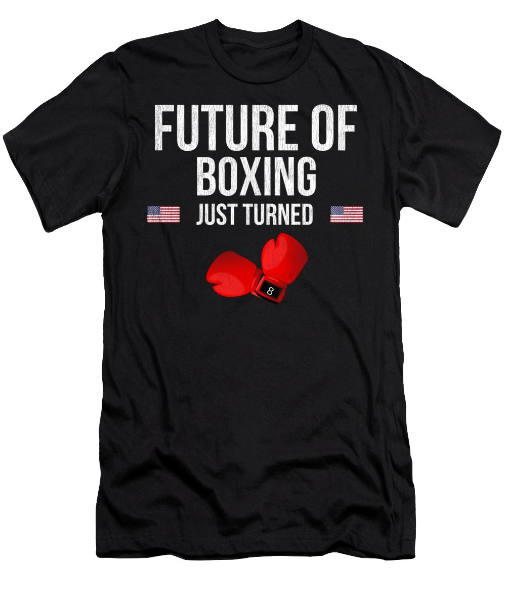 Christmas Men's T-Shirt (Athletic Fit) featuring the digital art Future Of Boxing Just Turned 8 by Jose O