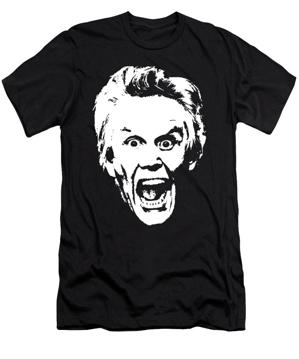 Gary Busey Gary T-Shirt featuring the digital art Gary Busey Minimailstic Pop Art by Filip Schpindel