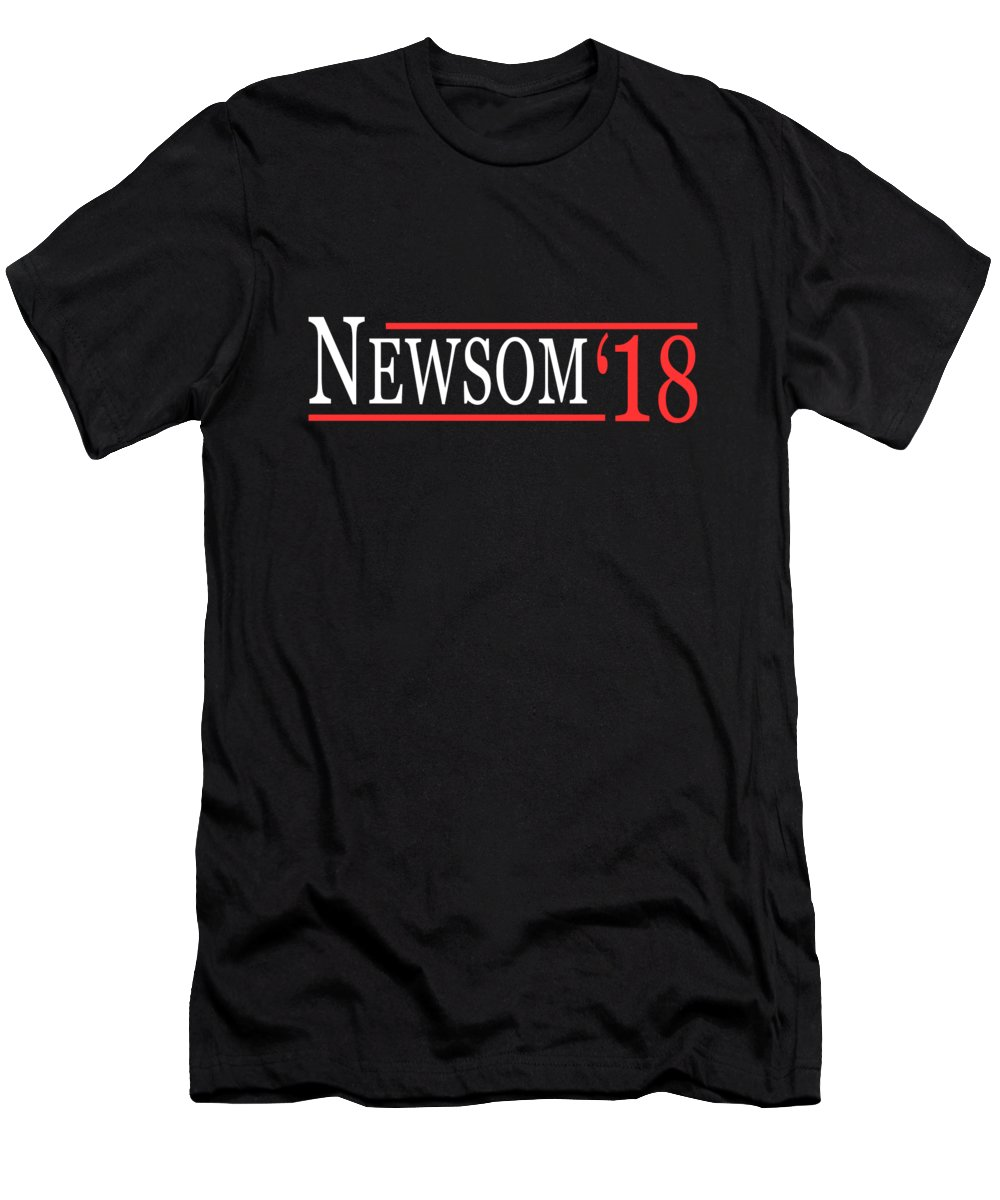 Cool Men's T-Shirt (Athletic Fit) featuring the digital art Gavin Newsom For Governor 2018 by Flippin Sweet Gear