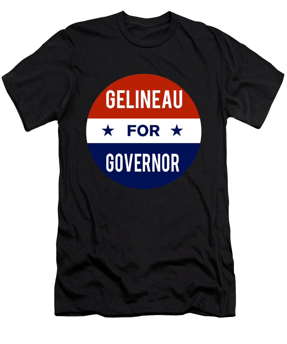 Election Men's T-Shirt (Athletic Fit) featuring the digital art Gelineau For Governor 2018 by Flippin Sweet Gear