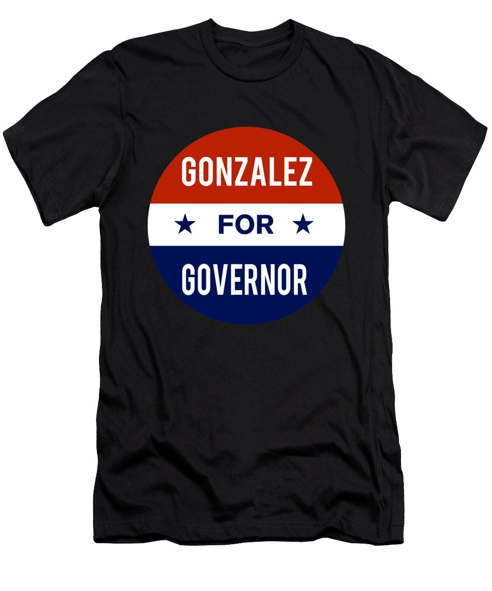 Election Men's T-Shirt (Athletic Fit) featuring the digital art Gonzalez For Governor 2018 by Flippin Sweet Gear