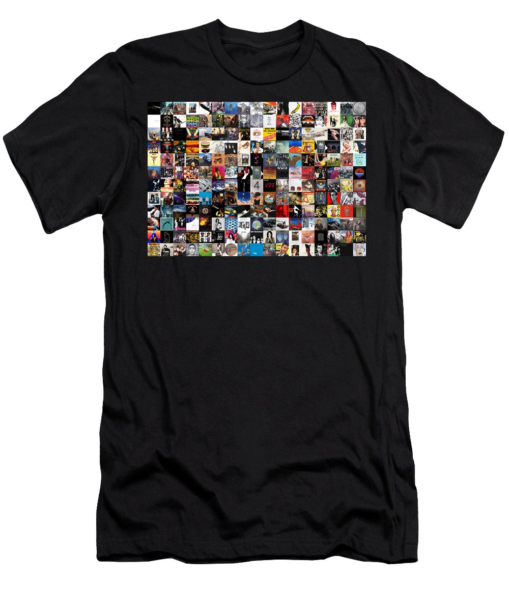 Album Covers T-Shirt featuring the digital art Greatest Album Covers of All Time by Zapista OU