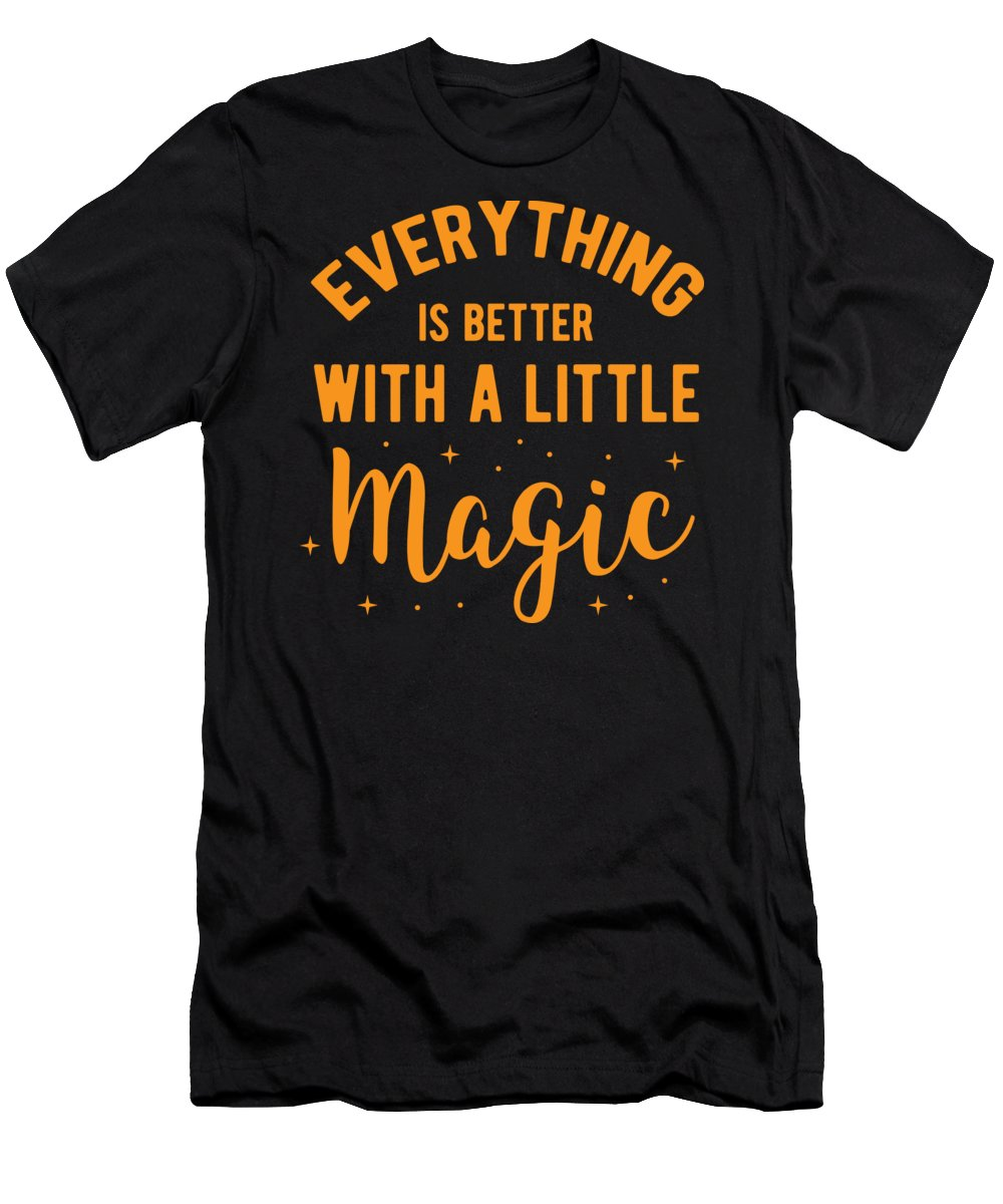 Halloween-costume Men's T-Shirt (Athletic Fit) featuring the digital art Halloween Shirt Better With Little Magic Gift Tee by Haselshirt