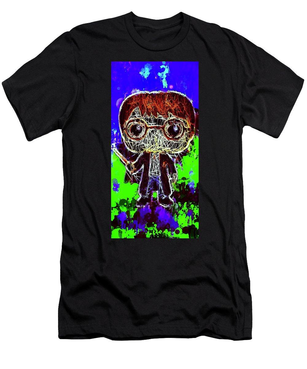 Unko Pop Men's T-Shirt (Athletic Fit) featuring the mixed media Harry Potter Pop by Al Matra