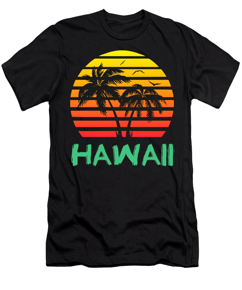 Hawaii T-Shirt featuring the digital art Hawaii Sunset by Filip Hellman