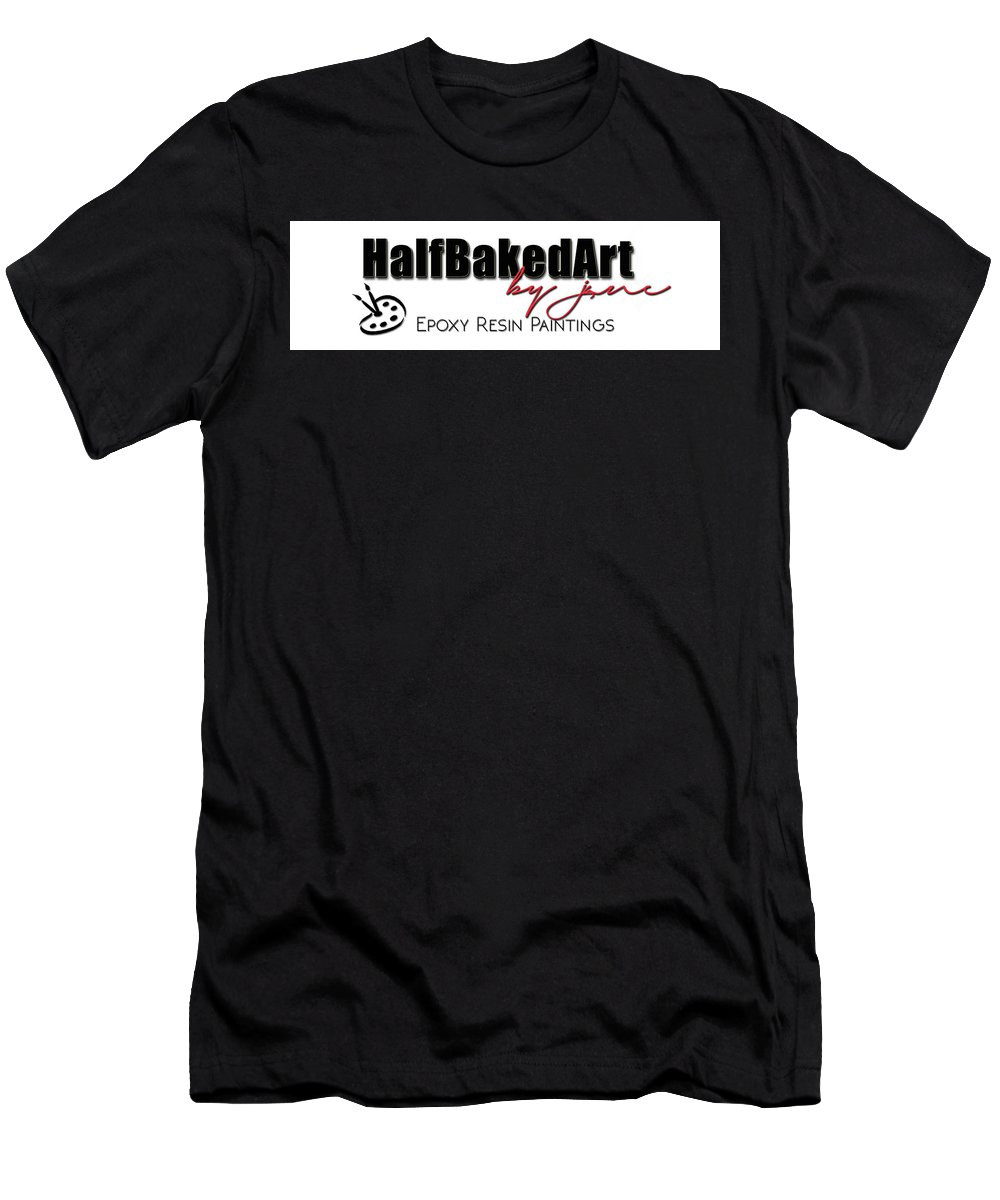 Half Baked Art Men's T-Shirt (Athletic Fit) featuring the digital art Hba Logo 1 by Jane Biven