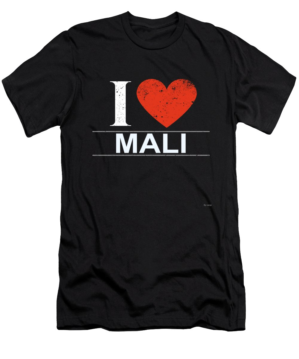 Gift Men's T-Shirt (Athletic Fit) featuring the digital art I Love Mali by Jose O