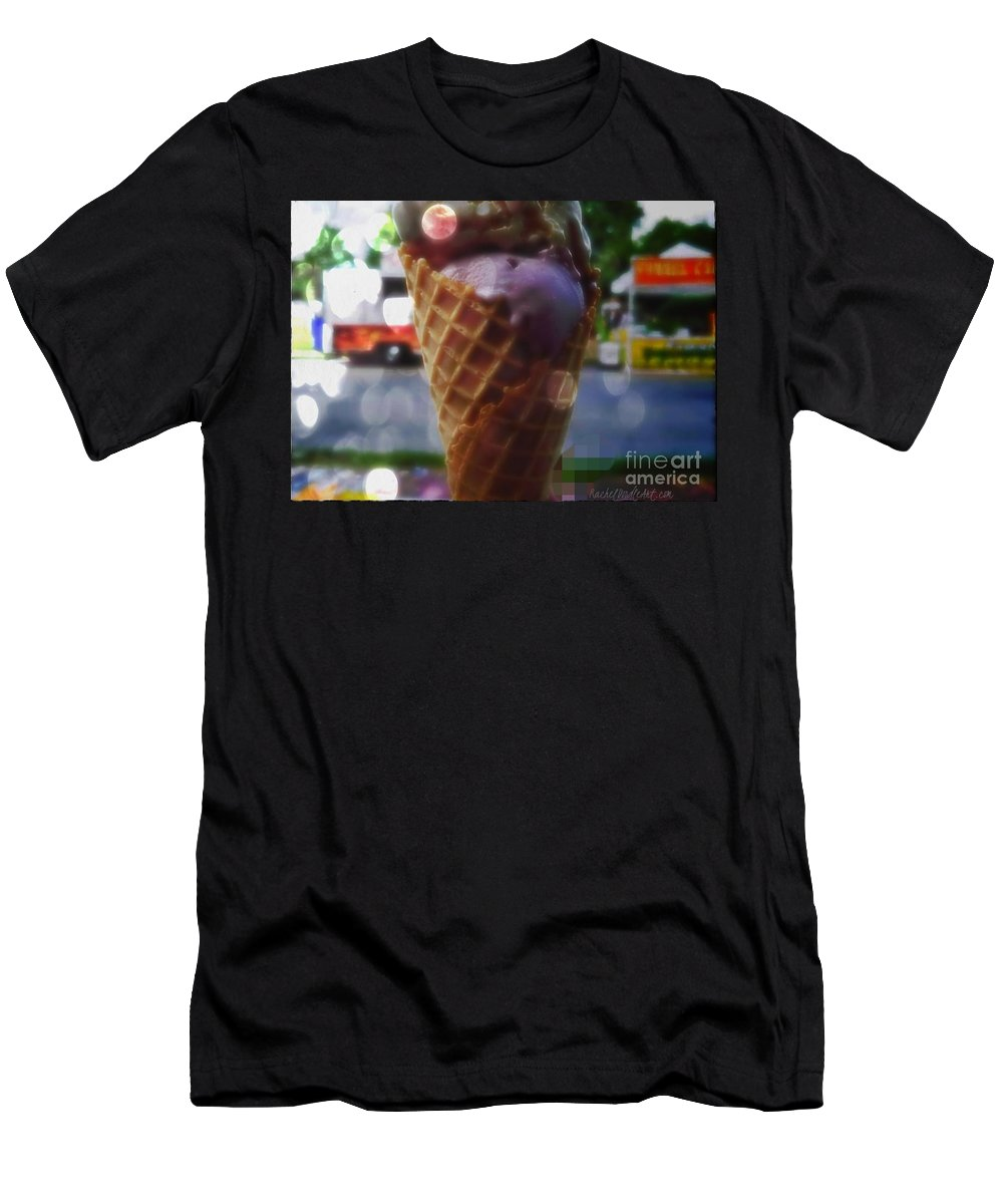 Icecream Men's T-Shirt (Athletic Fit) featuring the digital art Icecream Dreams by Rachel Maynard