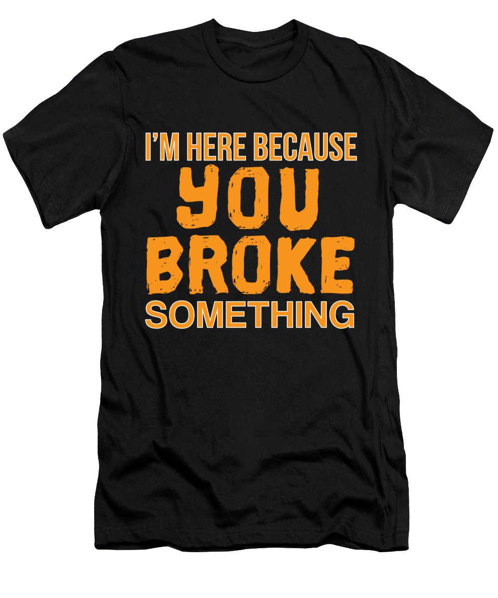Christmas Men's T-Shirt (Athletic Fit) featuring the digital art Im Here Because You Broke Something by Jose O