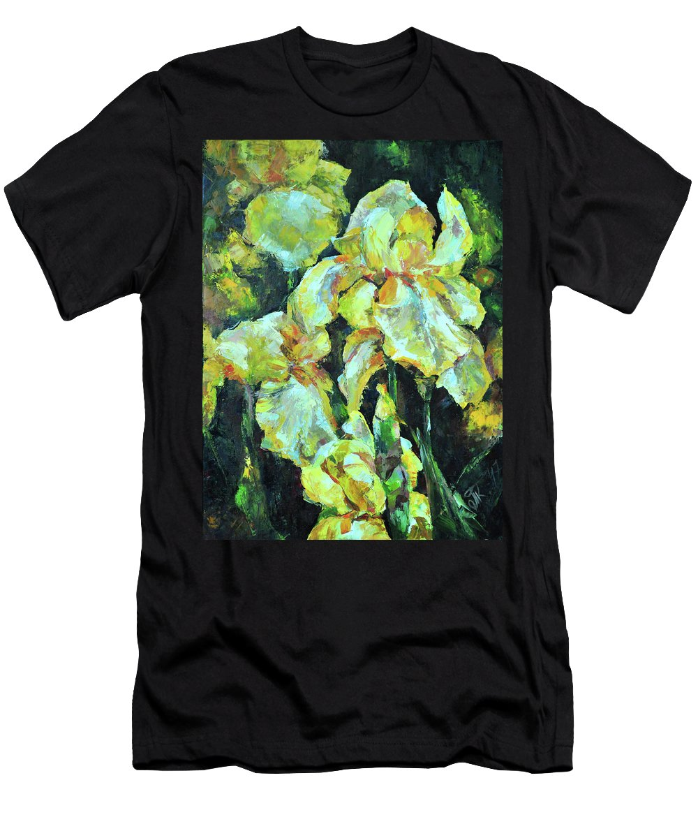Secret Men's T-Shirt (Athletic Fit) featuring the painting Iris by Tetiana Korol