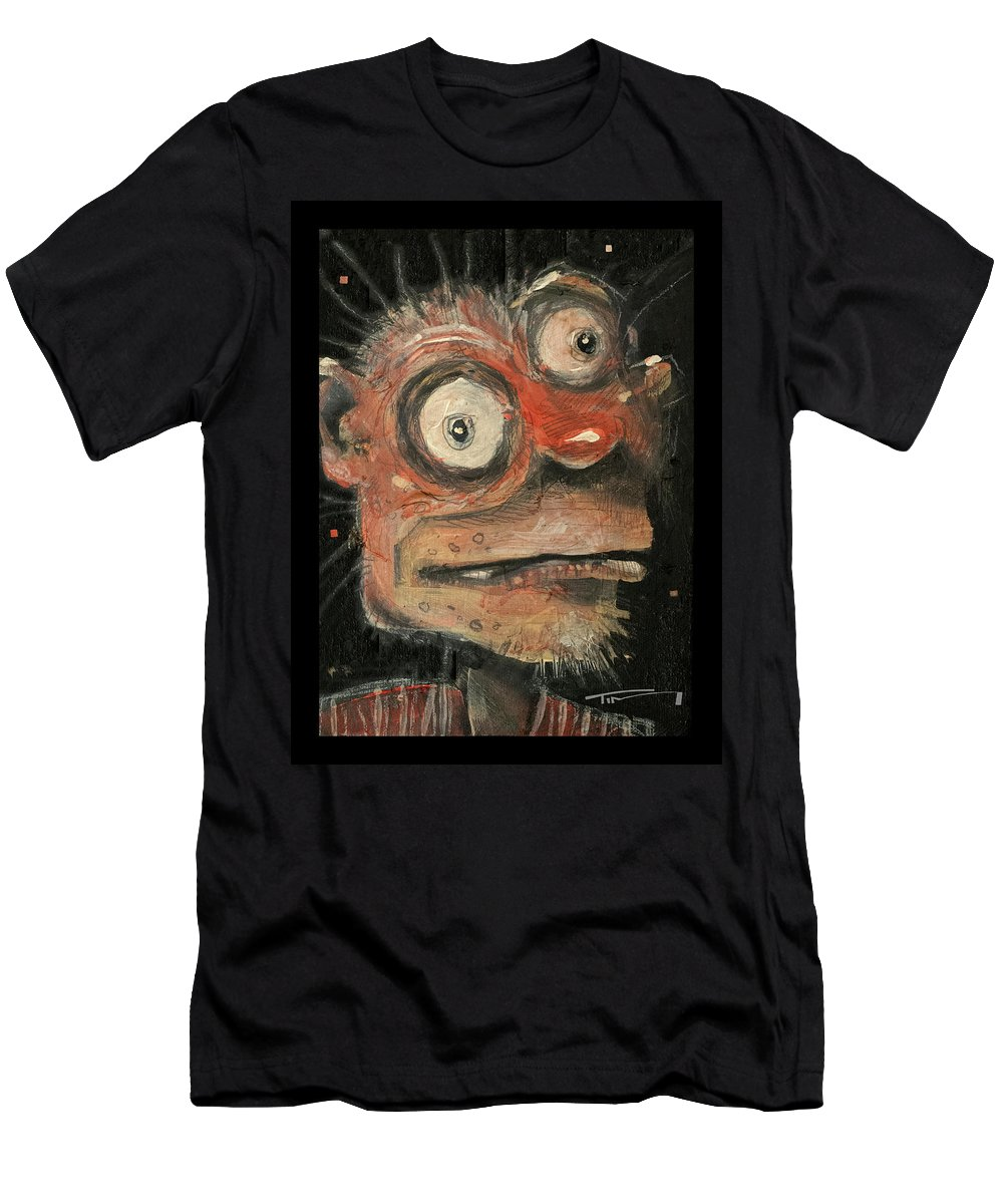 Man Men's T-Shirt (Athletic Fit) featuring the painting Irwin by Tim Nyberg