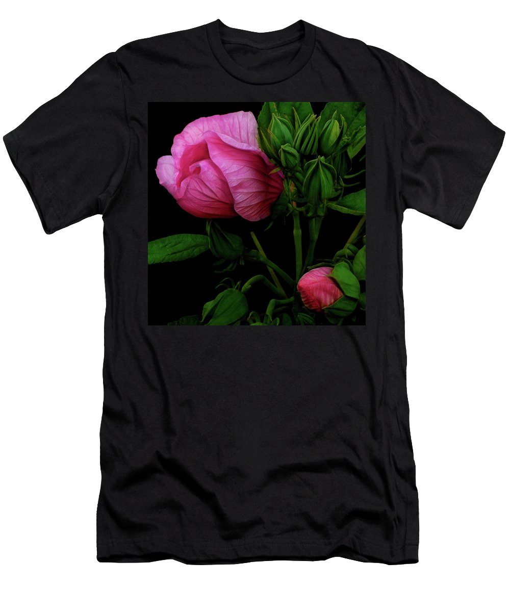 Hibiscus T-Shirt featuring the photograph Its A Matter Of Persective by Cynthia Dickinson