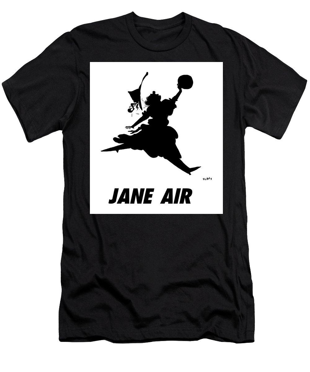 Jane Air T-Shirt featuring the drawing Jane Air by Sara Lautman