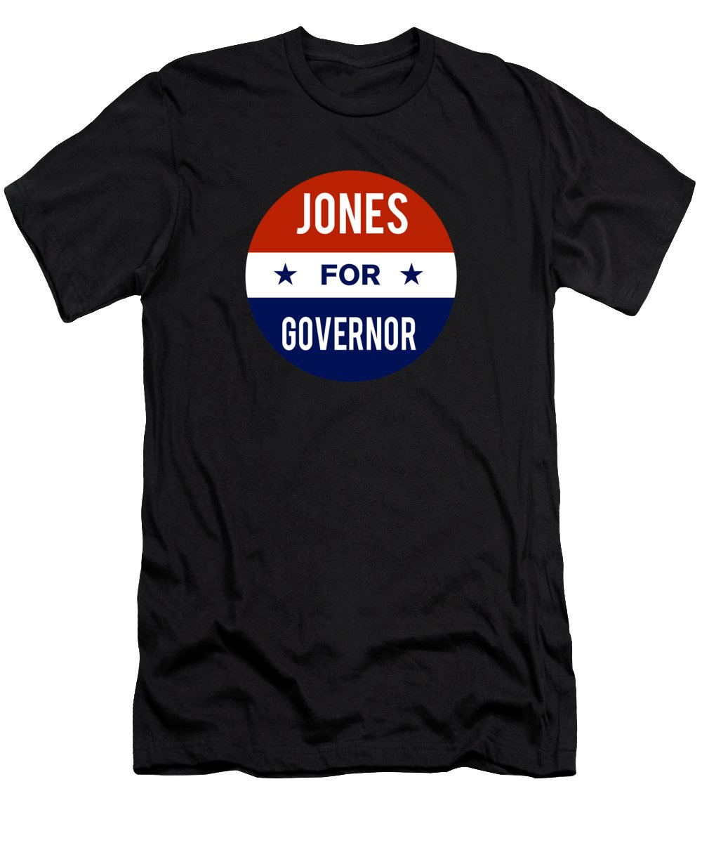 Election Men's T-Shirt (Athletic Fit) featuring the digital art Jones For Governor 2018 by Flippin Sweet Gear