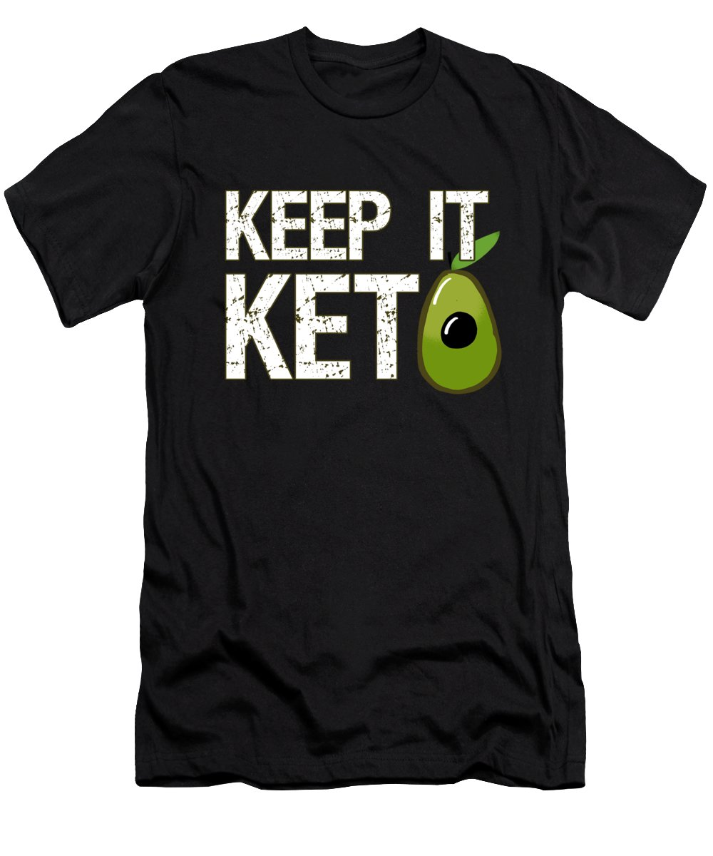 Dietitians Men's T-Shirt (Athletic Fit) featuring the digital art Keep It Keto by Flippin Sweet Gear