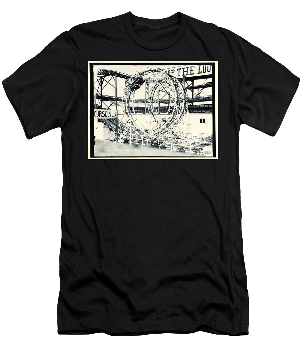 Vintage Photo T-Shirt featuring the photograph Loop The Loop by Mindy Sommers