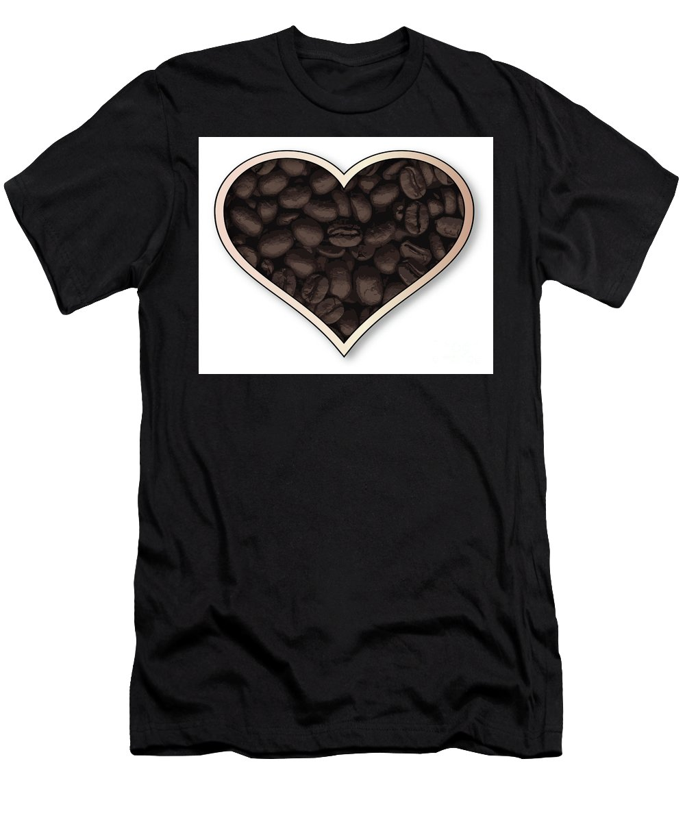 Love Men's T-Shirt (Athletic Fit) featuring the digital art Love Coffee by Bigalbaloo Stock