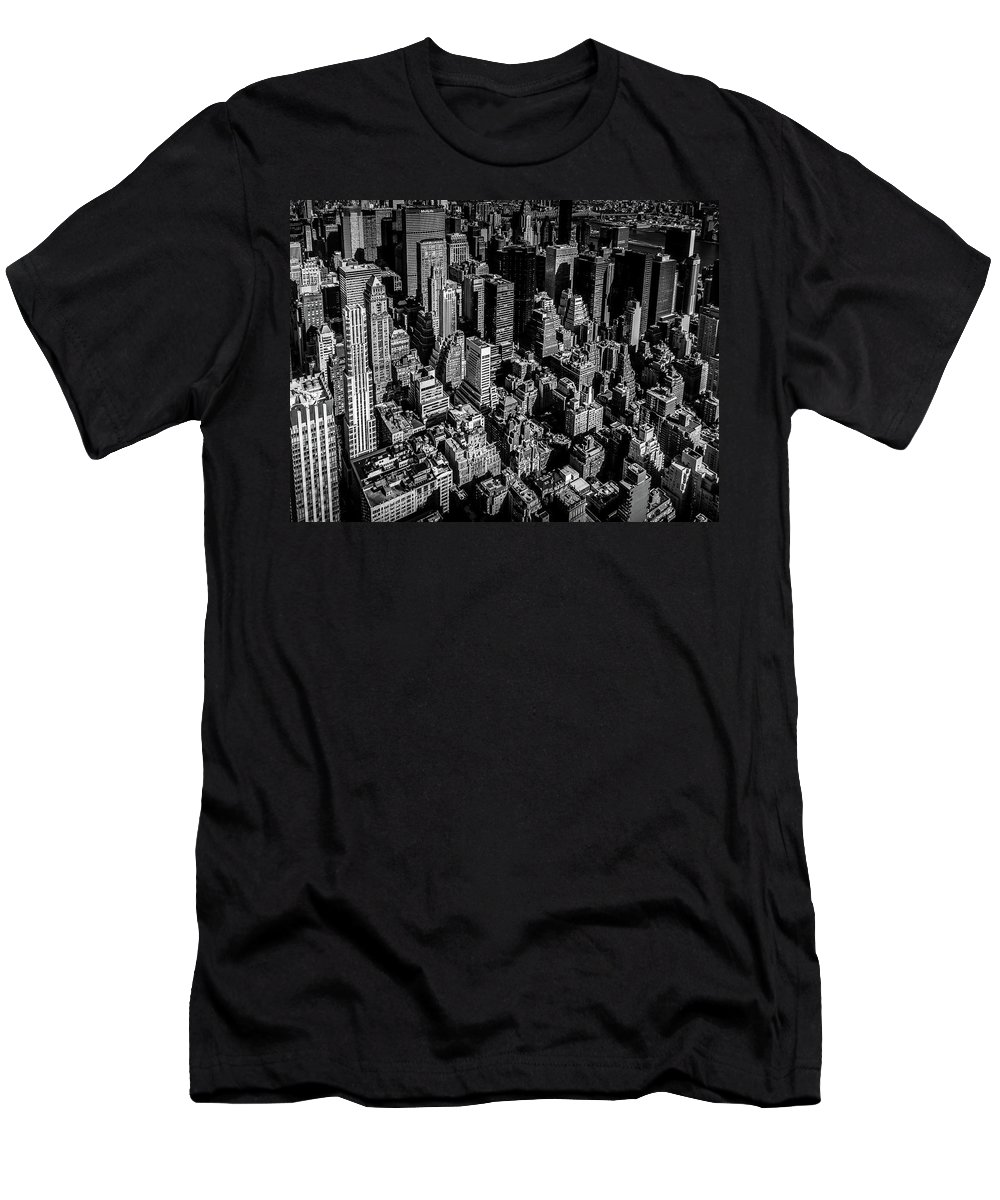 New York T-Shirt featuring the photograph Manhattan Rooftop View by Nicklas Gustafsson