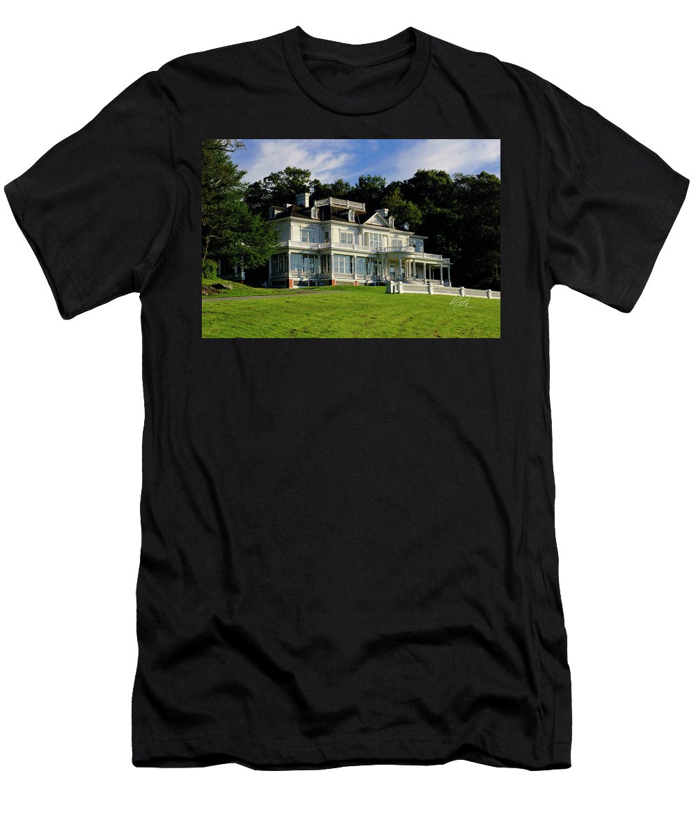 Moses Cone Manor Men's T-Shirt (Athletic Fit) featuring the photograph Moses Cone Manor by Meta Gatschenberger
