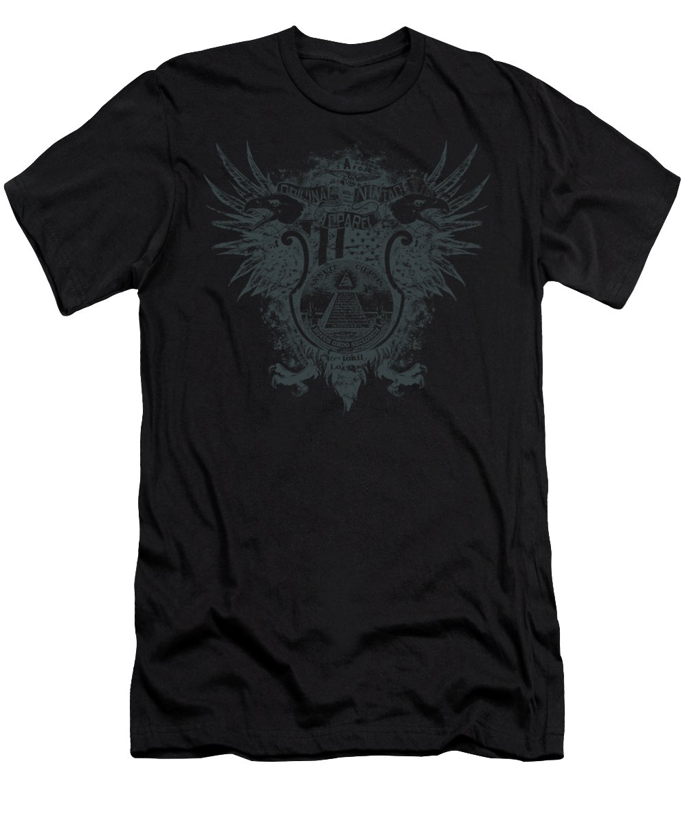 Distressed Men's T-Shirt (Athletic Fit) featuring the digital art New World Order Original Vintage Apparel by Passion Loft