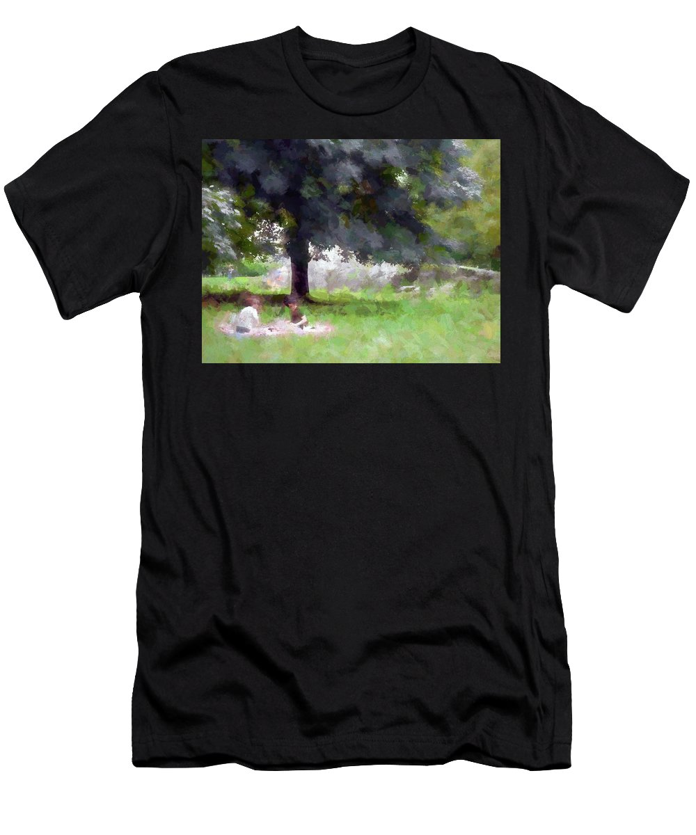 New York City Men's T-Shirt (Athletic Fit) featuring the digital art New York City 2018 Xix by Tina Baxter