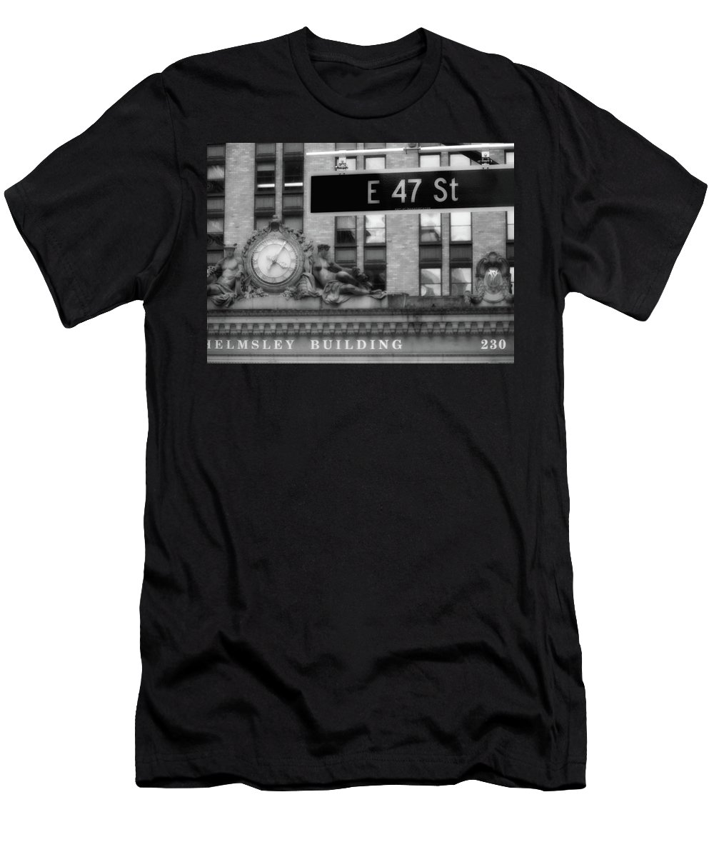 New York City Men's T-Shirt (Athletic Fit) featuring the digital art Nyc In Black And White Xii by Tina Baxter
