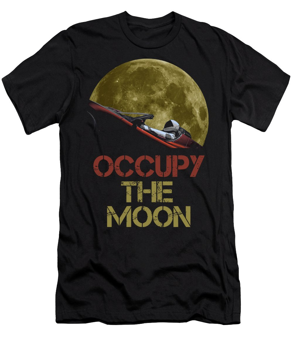 Dont Panic Men's T-Shirt (Athletic Fit) featuring the photograph Occupy The Moon by Filip Hellman