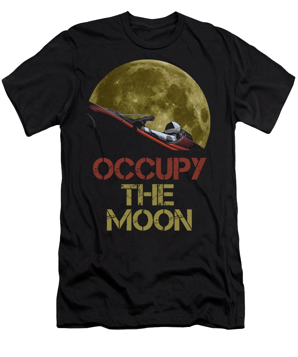 Dont Panic T-Shirt featuring the photograph Occupy The Moon by Filip Schpindel