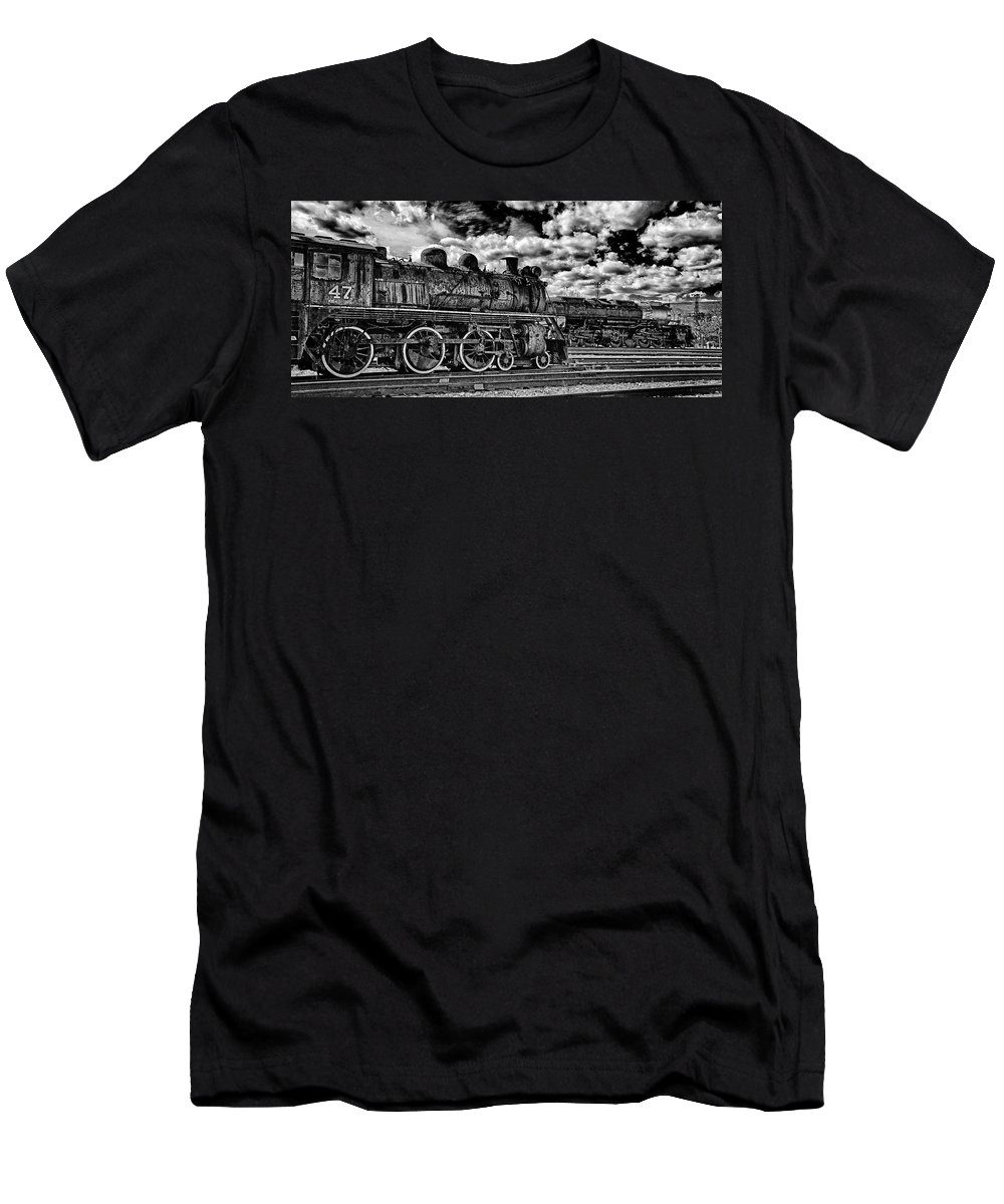 Pan Men's T-Shirt (Athletic Fit) featuring the photograph Old Number 47 - Pano by Paul W Faust - Impressions of Light