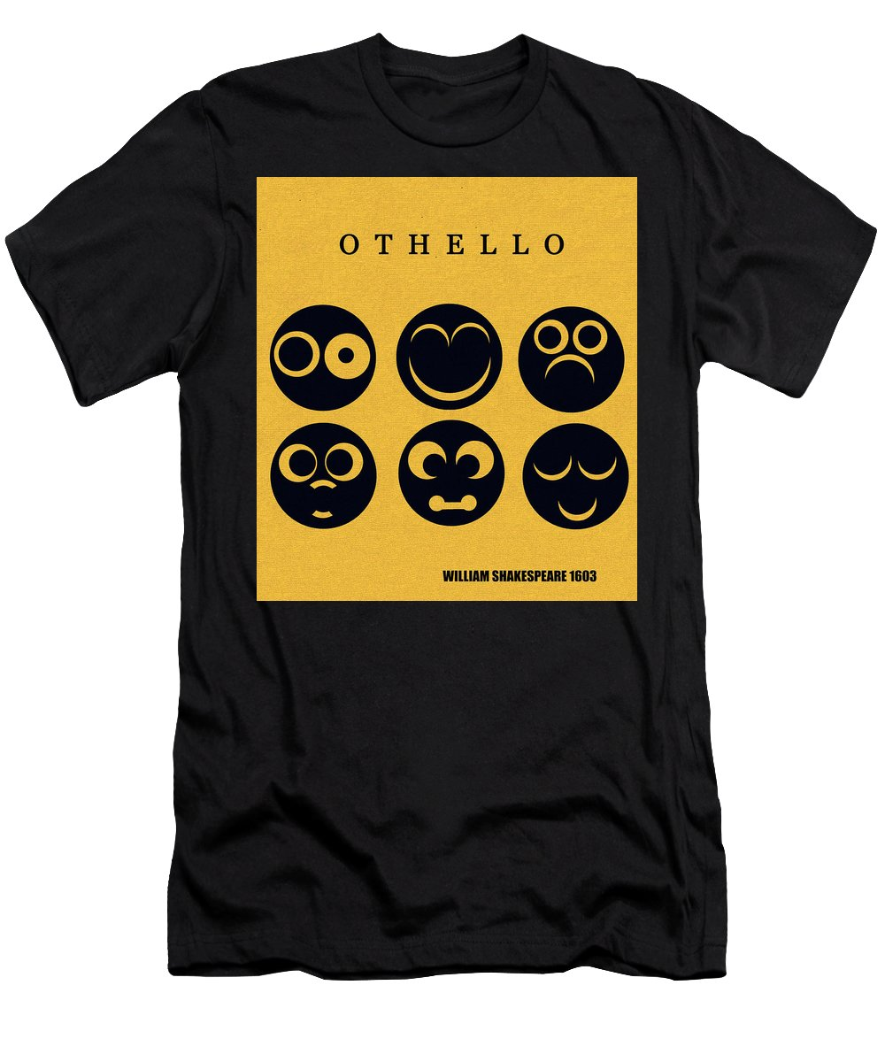 Othello Men's T-Shirt (Athletic Fit) featuring the digital art Othello Minimalsim Cover Art by David Lee Thompson