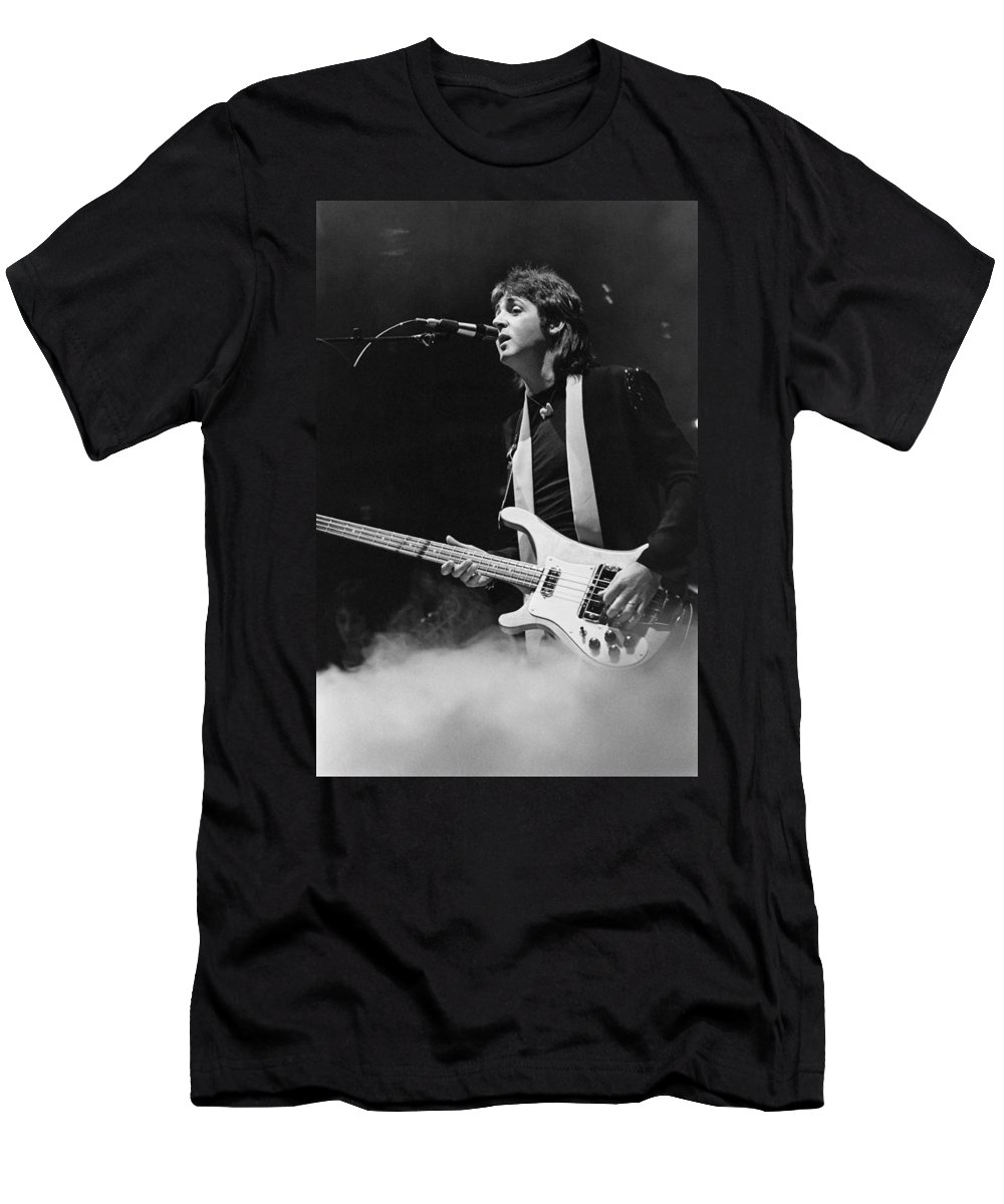 Bass T-Shirt featuring the photograph Paul Mccartney by Thomas S England
