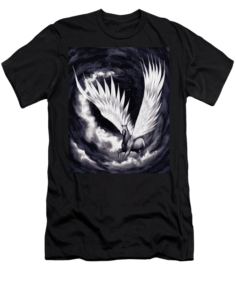 Pegasus T-Shirt featuring the painting Pegasus by Sami Matilainen