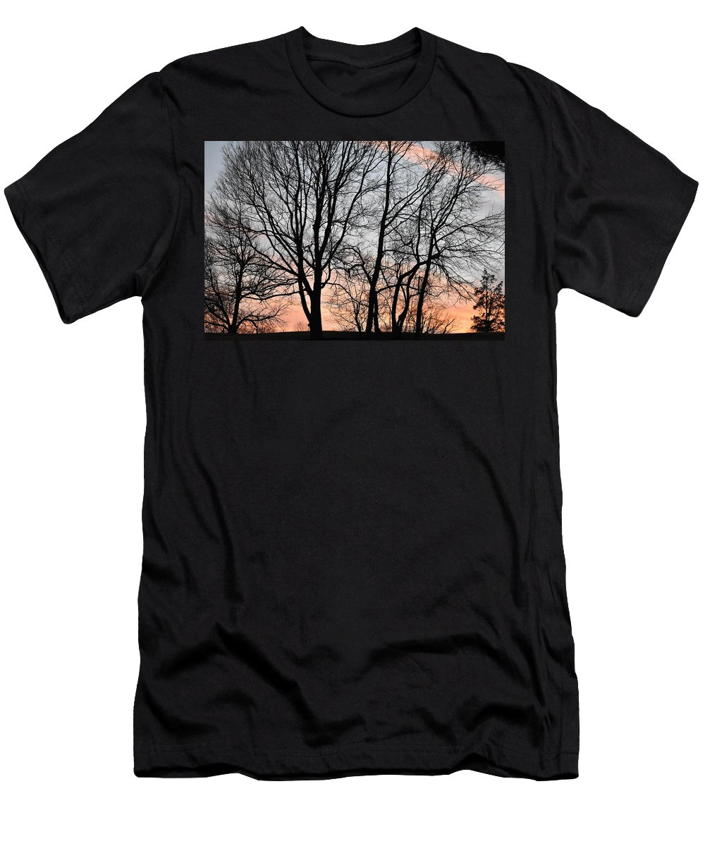 Trees T-Shirt featuring the photograph Pink Sky by Cassidy Marshall