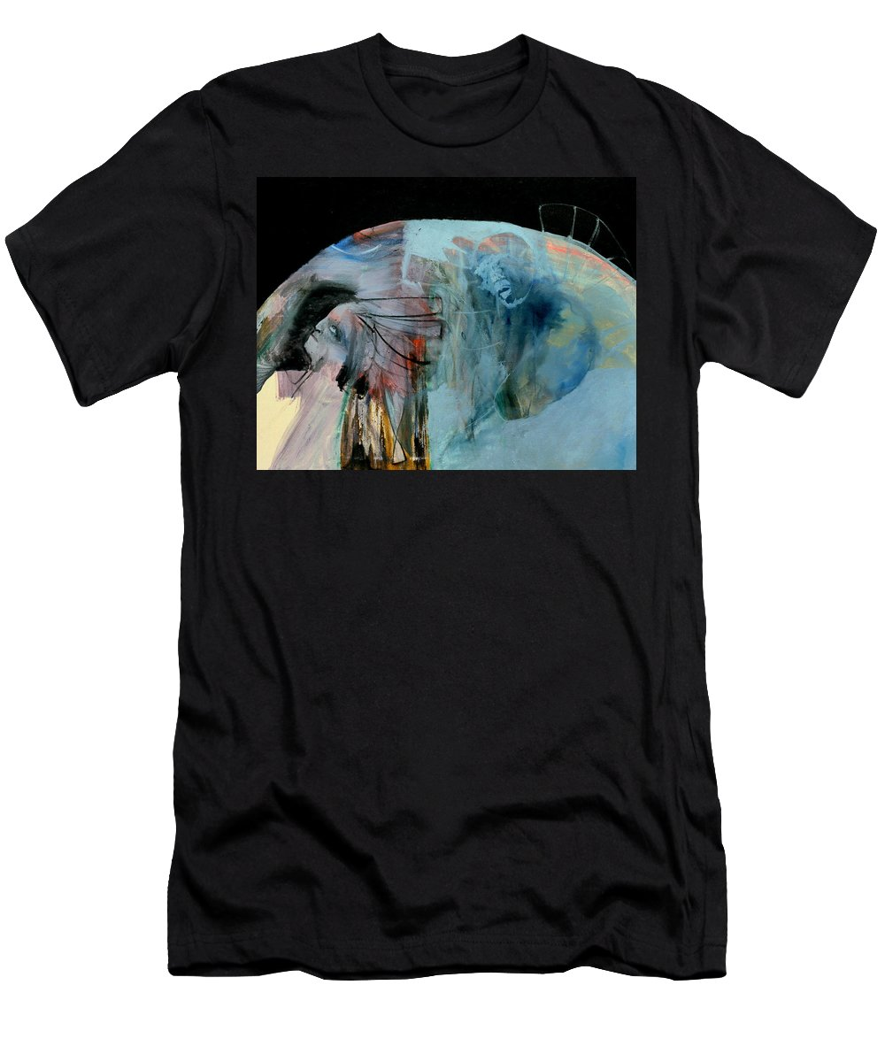 Earth Men's T-Shirt (Athletic Fit) featuring the painting Planet Earth by Artist Dot