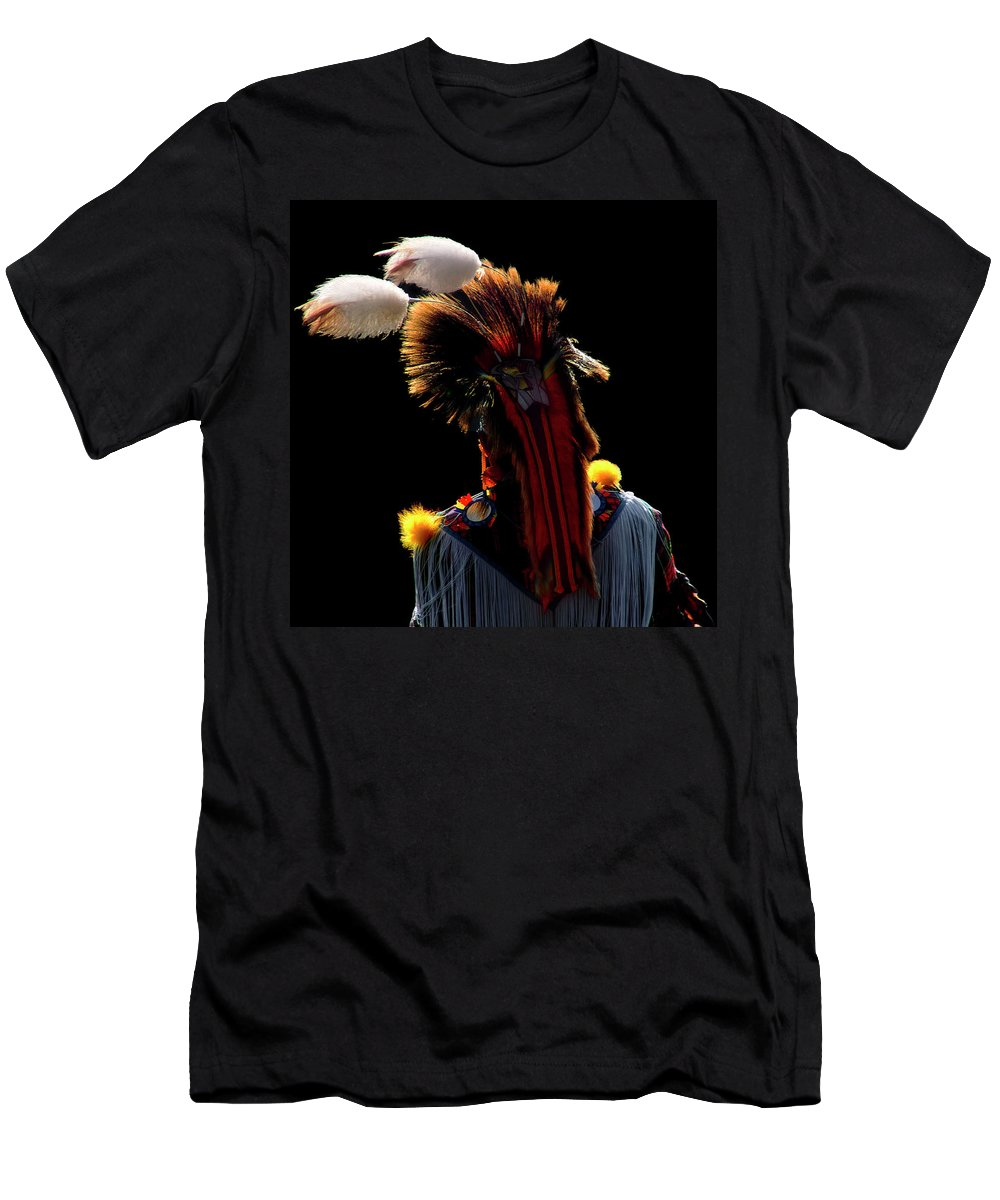 Pow Wow T-Shirt featuring the photograph Pow Wow Fancy Dancer by Cynthia Dickinson