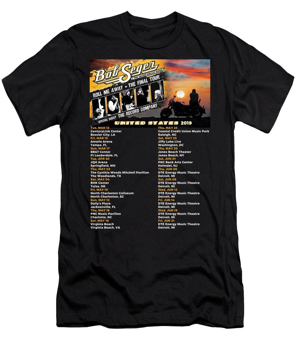 Bob Seger Roll Me Away Tour 2019 T shirt S 3XL MEN/'S