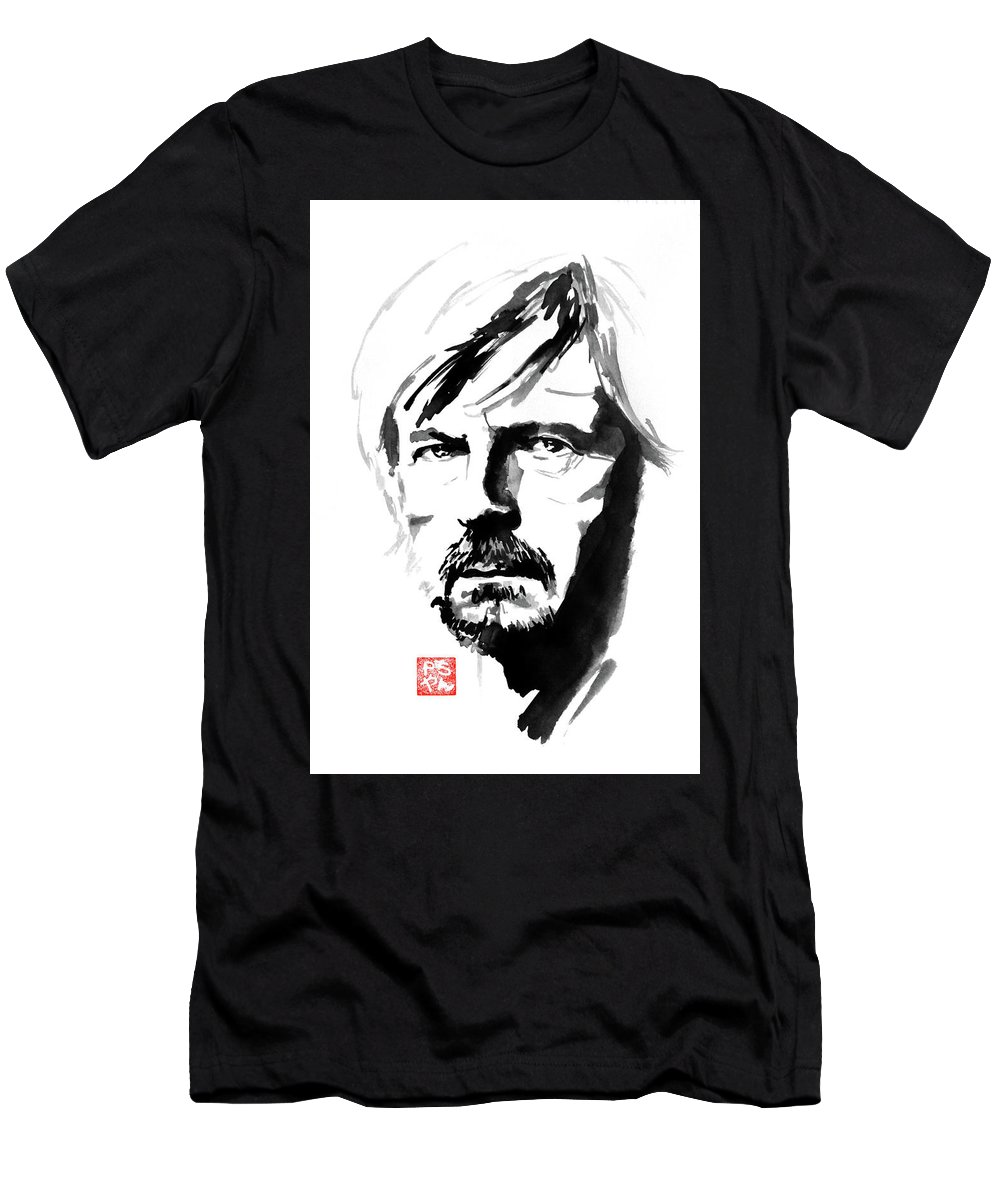 Renaud Men's T-Shirt (Athletic Fit) featuring the painting Renaud by Pechane Sumie