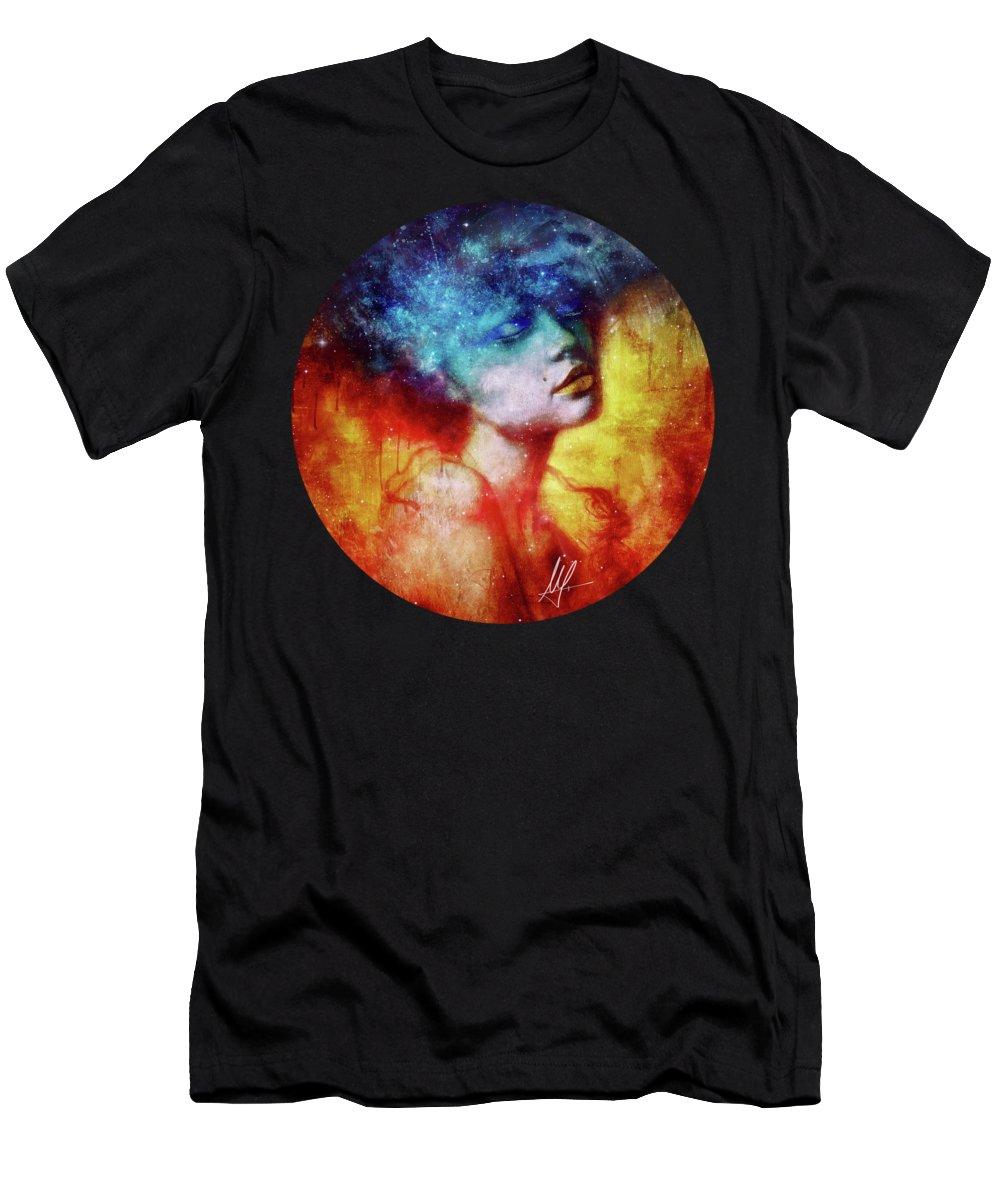 Portrait Men's T-Shirt (Athletic Fit) featuring the digital art Revelation by Mario Sanchez Nevado