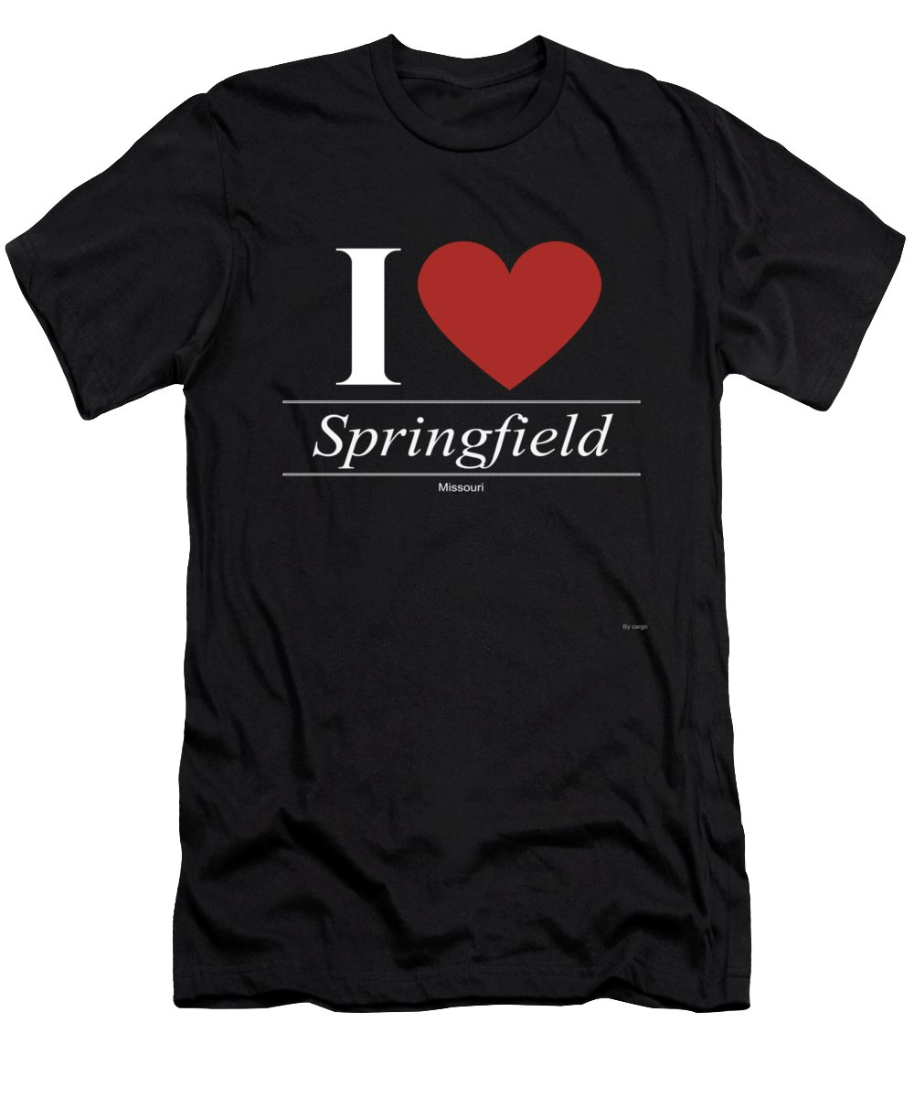 American Men's T-Shirt (Athletic Fit) featuring the digital art Springfield Missouri Mo Missourian by Jose O