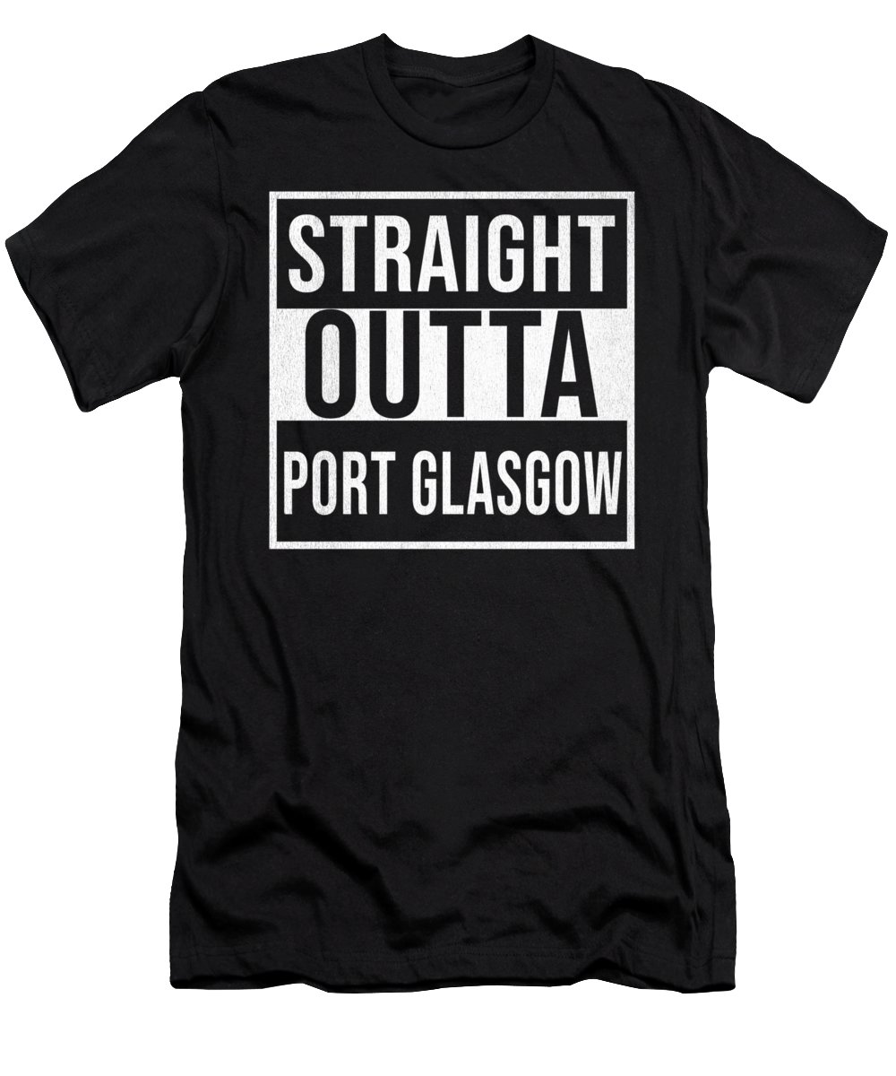 Scotland Men's T-Shirt (Athletic Fit) featuring the photograph Straight Outta Port Glasgow by Jose O
