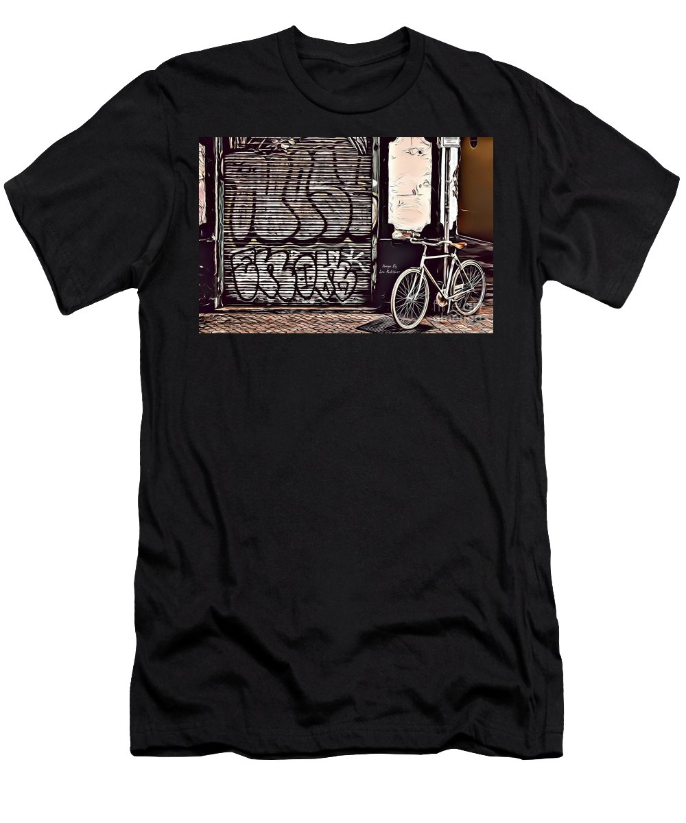 Urban Men's T-Shirt (Athletic Fit) featuring the digital art Street Art 20 Fc by Leo Rodriguez