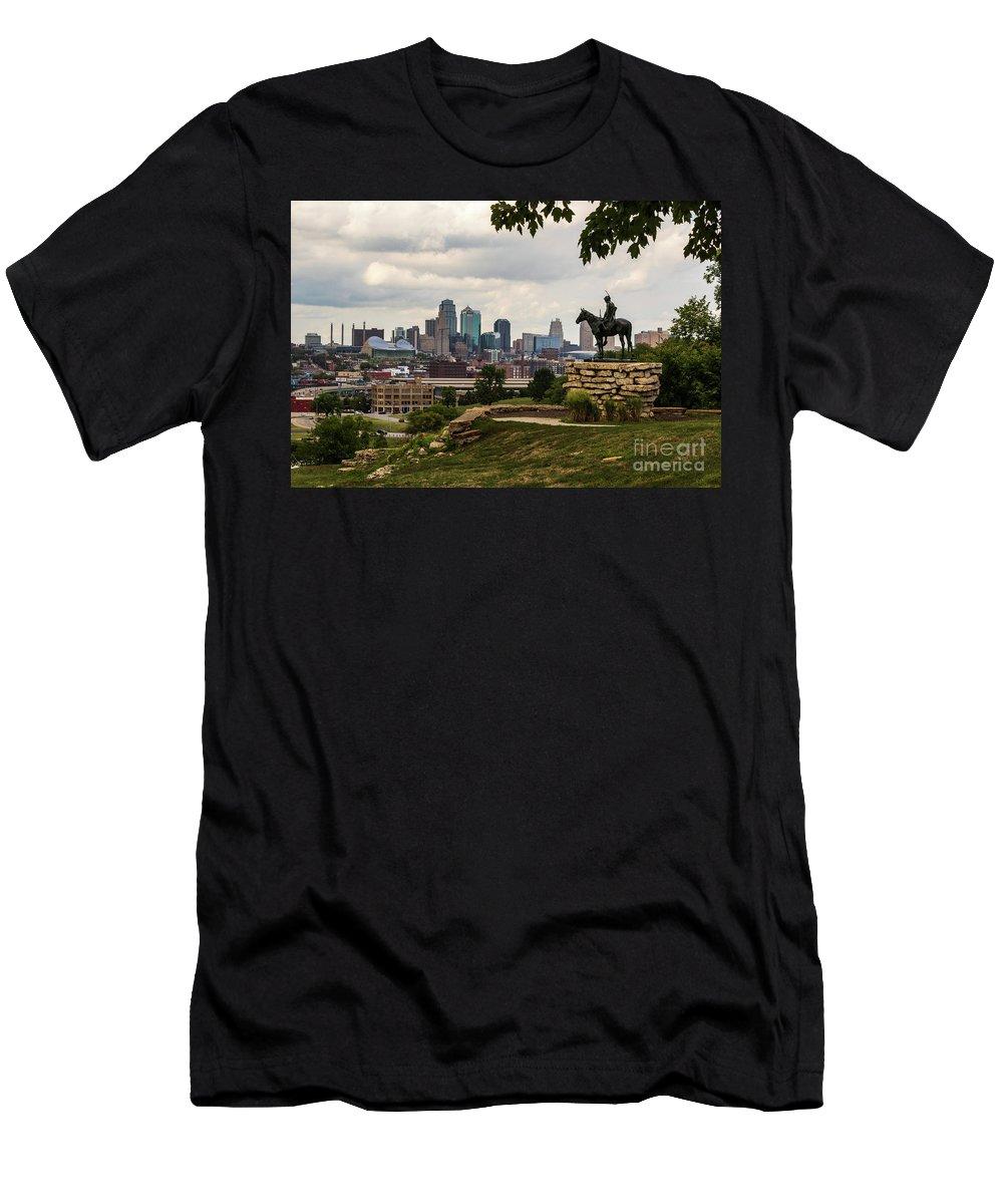 Kansas City Men's T-Shirt (Athletic Fit) featuring the photograph The Scout Kansas City by Terri Morris