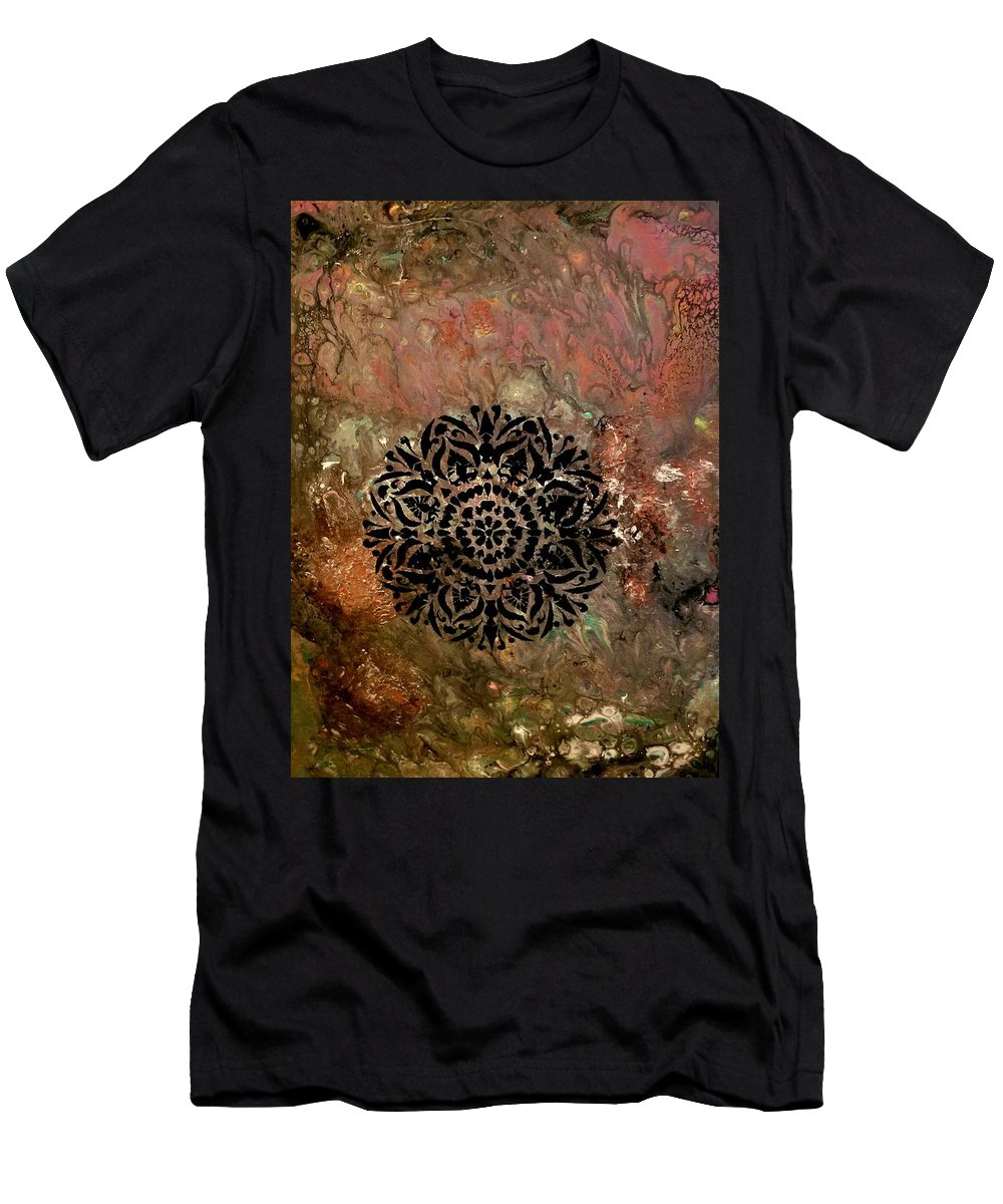 Thoughtful T-Shirt featuring the painting Thinking from the heart by Valerie Josi